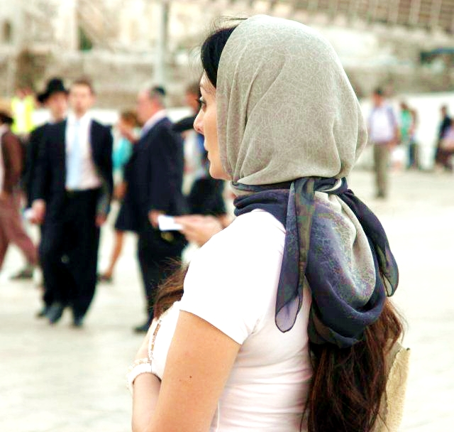 Israeli Woman headscarf