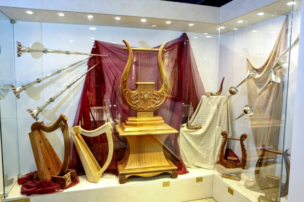 Levitical instruments used in the Holy Temple.