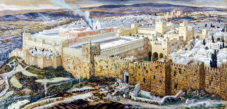 The Reconstruction of Jerusalem-Temple of Herod-James Tissot