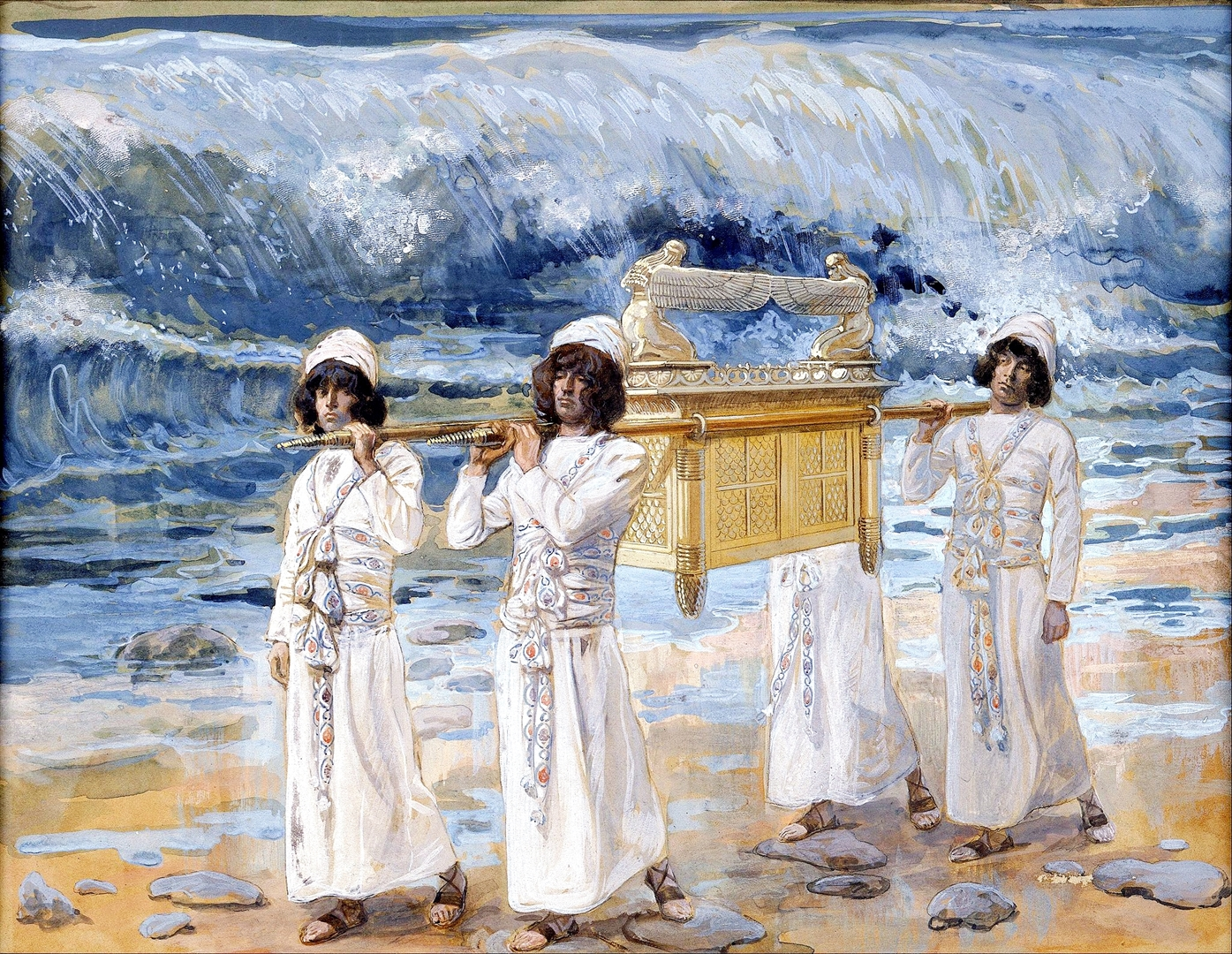 The Ark Passes Over the Jordan, by James Tissot