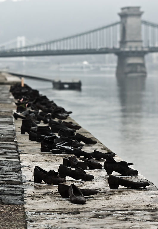Shoes Danube Promenade Holocaust Budapest Hungary Arrow Cross WWII
