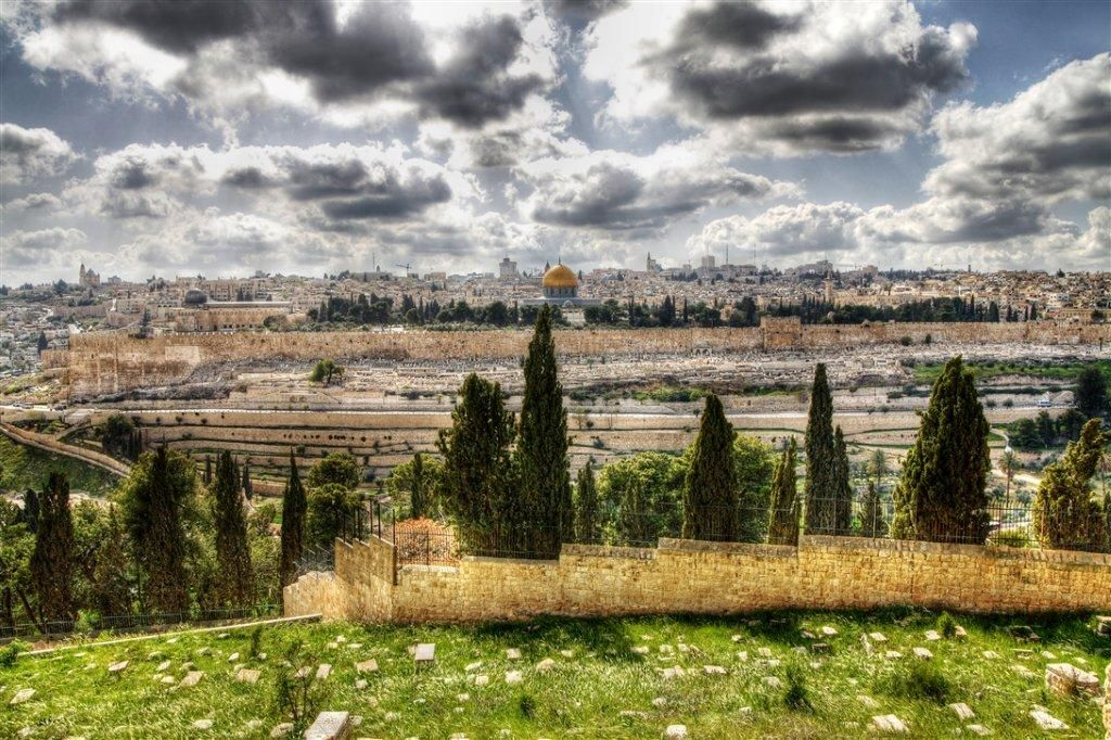 A view of the Temple Mount from the Mount of Olives. <em>(Photo credit: Go Israel)</em>