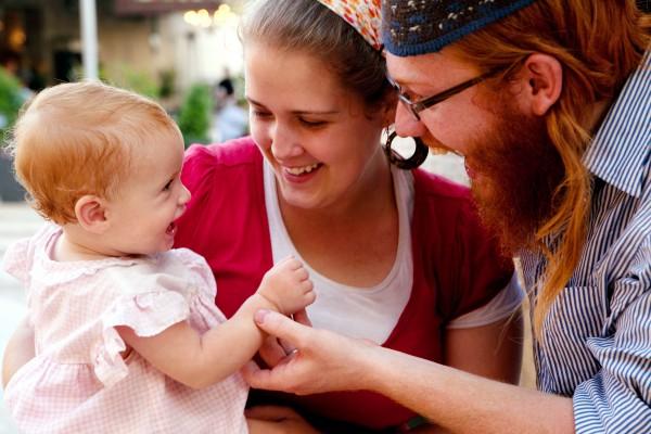 An observant Jewish family (Photo: Go Israel / Noam Chen)