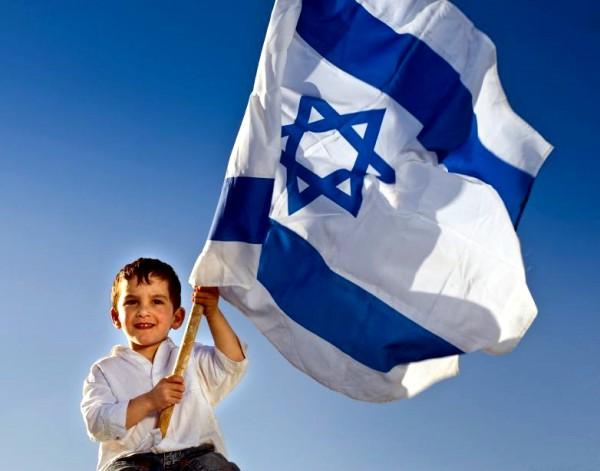 Israeli flag-boy