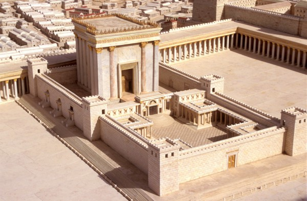 A model in Jerusalem of the Second Temple
