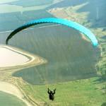 paraglider over Israel