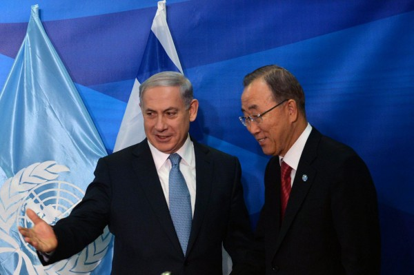 Moon Netanyahu Israel UN