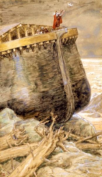 Tissot-The Dove Returns to Noah