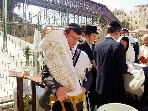 Carrying-Torah-Western (Wailing) Wall