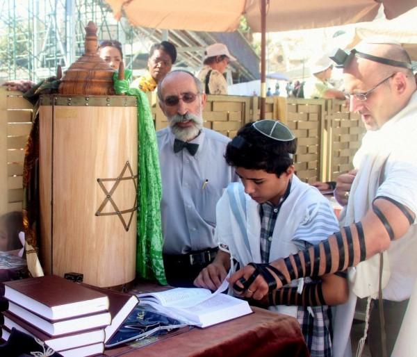 Bar Mitzvah reading Torah Western Wailing Wall Kotel