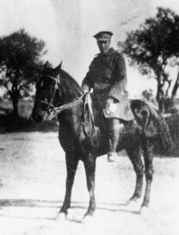 Joseph Trumpeldor in uniform as a Zion Mule Corps officer in Gallipoli.