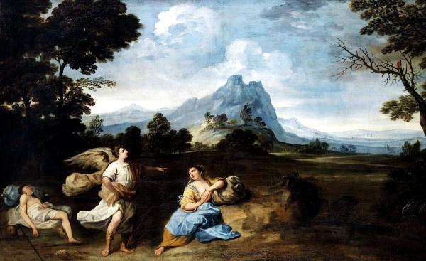 Hagar and Ishmael in the Desert, by Giuseppe Zola