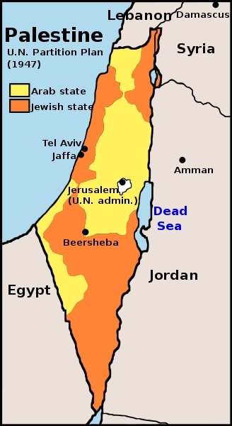 UN Partition Plan-Palestine-Map