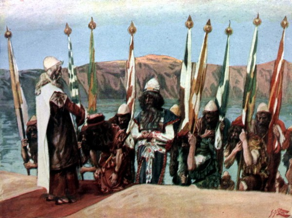 Moses Blesses Joshua Before the High Priest, by James Tissot