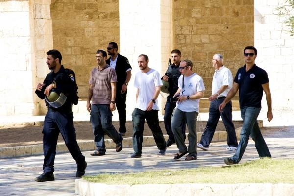 Jewish Temple Mount Police Escort Security