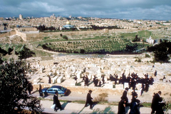 A view of the Temple Mount from the Mount of Olives