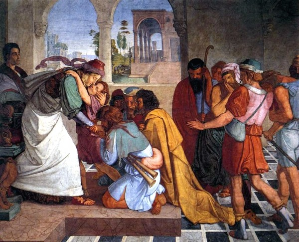 The Recognition of Joseph by His Brothers-Peter Von Cornelius