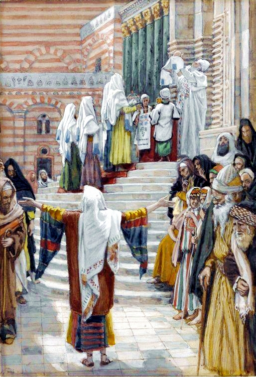 The Presentation of Yeshua in the Temple-James Tissot