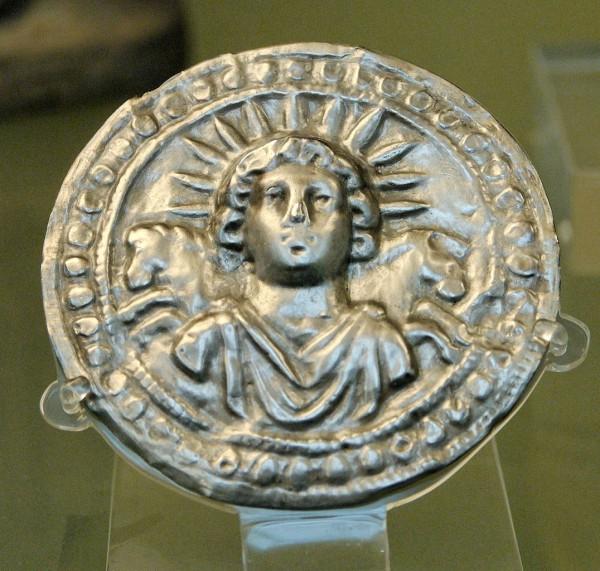 Third century Roman disc of Sol Invictus