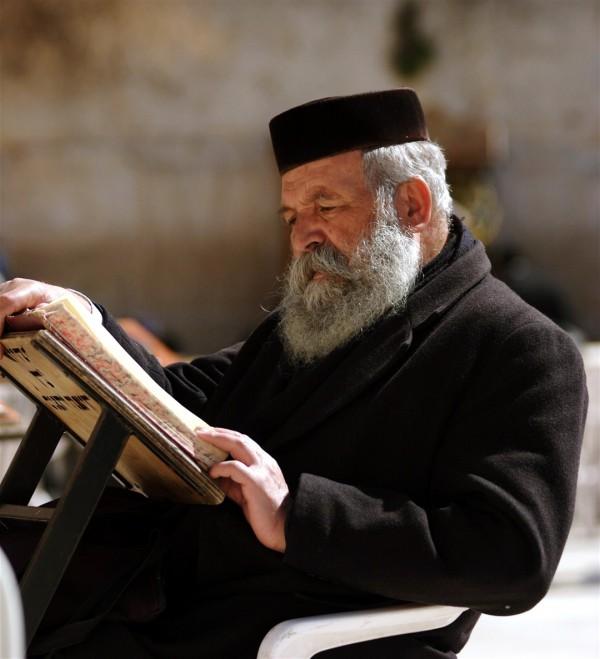 Jewish man reads at the Western Wall A Jewish man reads at the Western Wall. (Photo by Lev Cap)