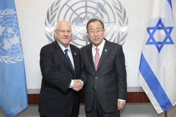Ban Ki-Moon_Reuven Rivlin