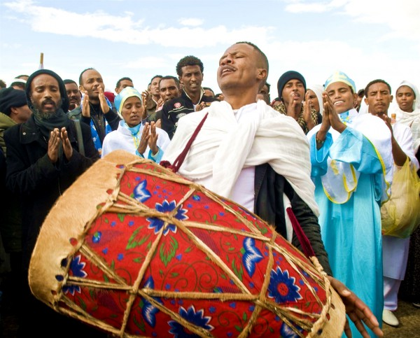 Epiphany_Jordan River-Ethiopian Orthodox-Drum