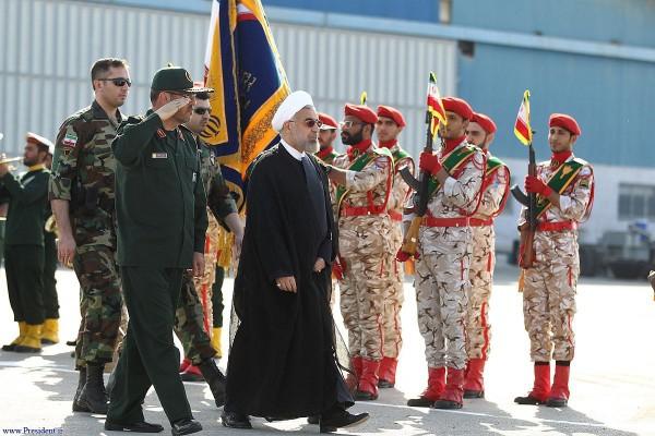 Iranian President Hassan Rouhani-Islamic Revolution Guards Corps (IRGC) Navy