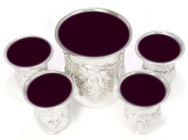 Five cups wine Passover Seder Cup of Elijah-redemption