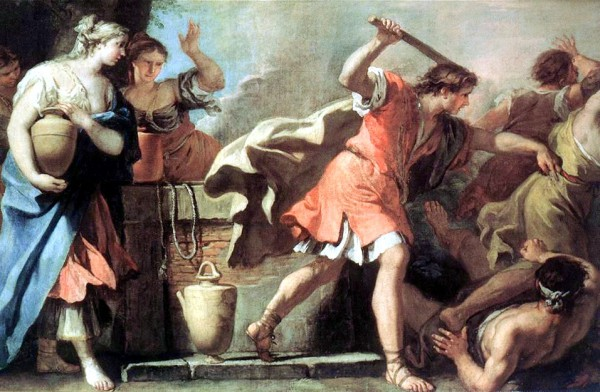 Moses Defending the Daughters of Jethro, by Sebastiano Ricci