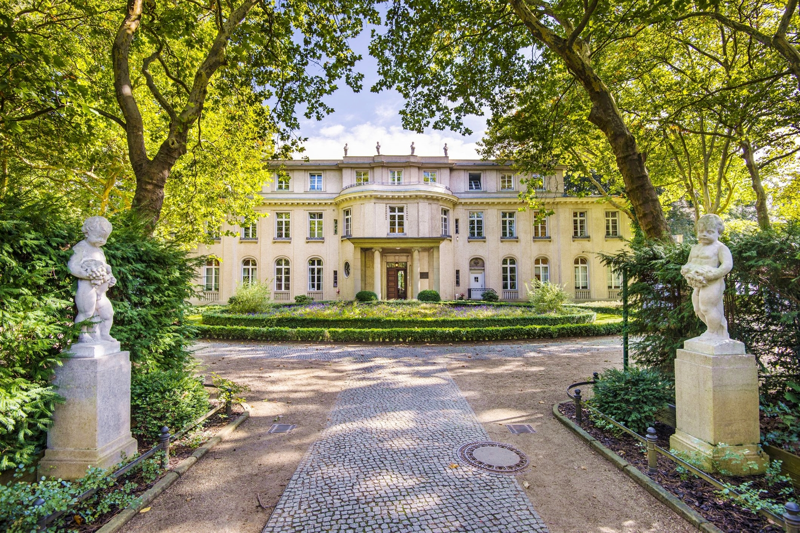 On January 20, 1942, several high-ranking Nazi party and German government officials gathered at this villa in the Berlin suburb of Wannsee to discuss and coordinate the implementation of