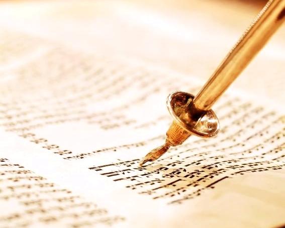 Exodus-Golden yad-Torah scroll