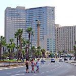 Israel-high rise-pedestrians