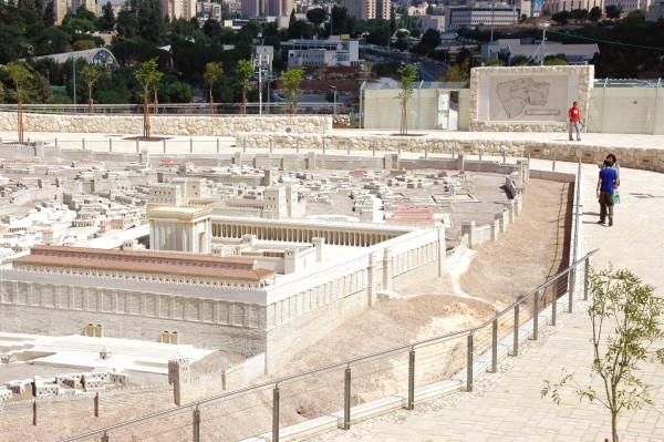 This model of ancient Jerusalem, the Temple Mount, and the Second Temple is located at the Israel Museum in Jerusalem.