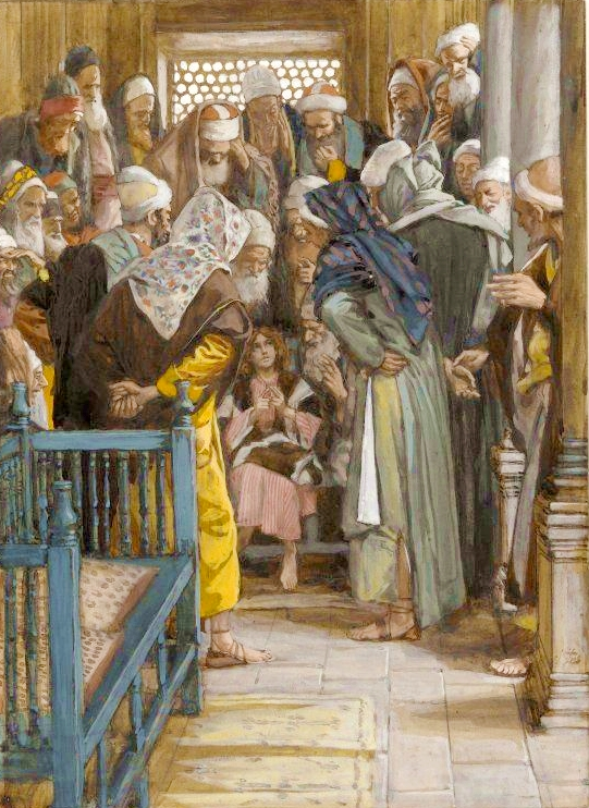 Yeshua Among the Doctors, by James Tissot