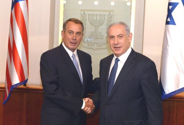 Netanyahu-Boehner-Israel-grip and grin