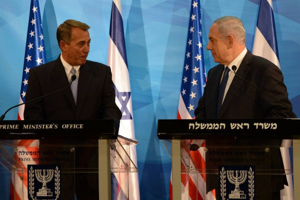 John Boehner-Benjamin Netanyahu-Israel-April-2015