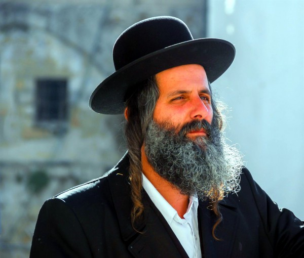 An ultra-Orthodox Jewish man in Jerusalem
