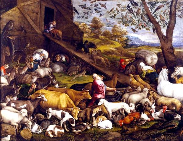 The Animals Entering Noah's Ark, by Jacopo Bassano