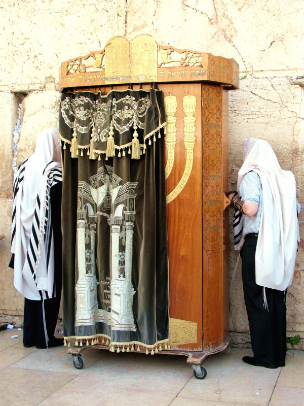 Torah ark at the Western (Wailing) Wall (Photo by James Emery)