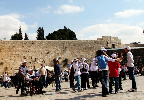 Israelis and tourists visit the Kotel, which is beneath the spot on the Temple Mount where the Temples once stood.