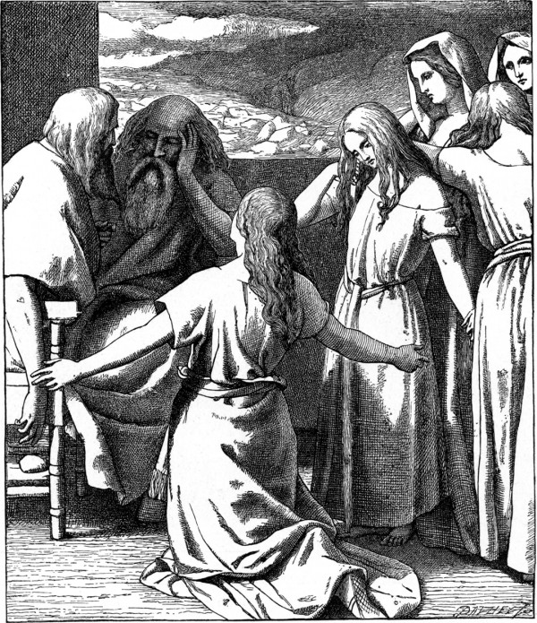 The Daughters of Zelophehad (Bible Pictures and What They Teach Us, 1897)