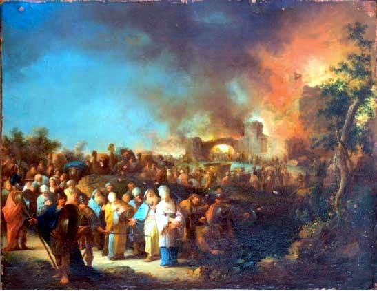 Destruction of Jerusalem, by Johann Georg Trautmann