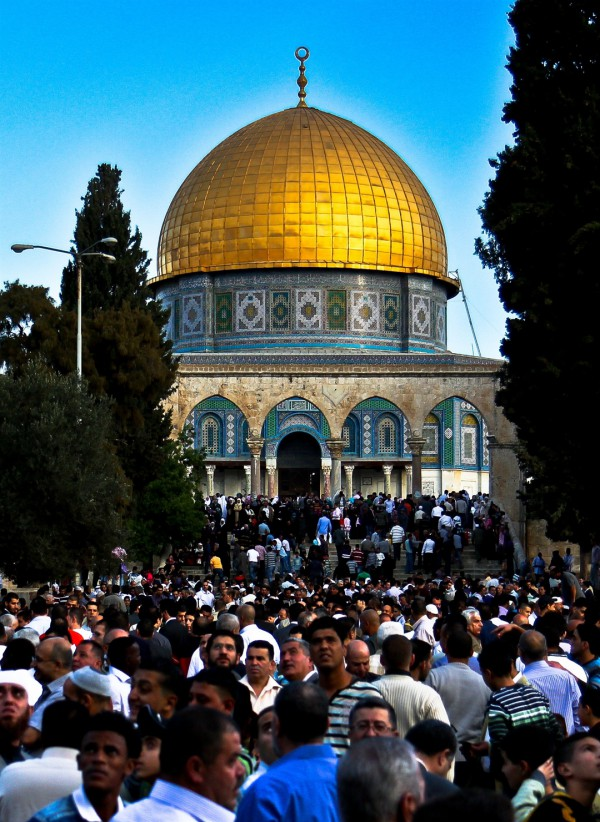 Muslims visit the Temple Mount in great numbers during Islamic holidays.