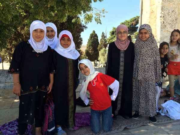 Muslim children on the Temple Mount (Photo by Michael-Ann Cerniglia)