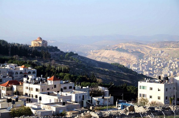 Mount Gerizim and Mount Ebal, the mountains on which the Israelites were commanded to pronounce the blessings and curses upon entering the Promised Land. This is also the location of Biblical Shechem, the place where Abram built an altar to the Lord (Genesis 12:6–8).