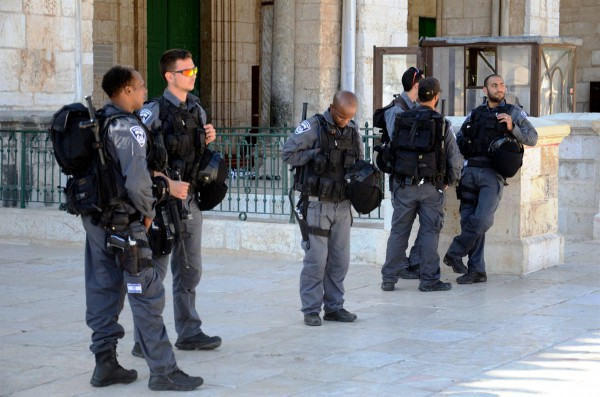 Israel posts Temple Mount police and security on the Temple Mount, which Muslims are permitted to access through 10 gates. Christians and Jews can only access the Mount through the Mughrabi Gate. (Photo by Michael Jones)