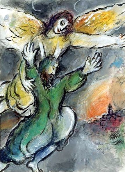 Moses Blesses the Children of Israel, by Marc Chagall