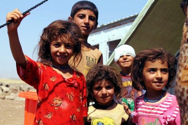 yazidi refugee children