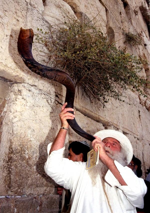 Western-Wailing-Wall-Jerusalem- shofar-High Holidays