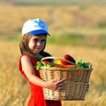 Shavuot-Israeli-child-fruit-vegetables-basket